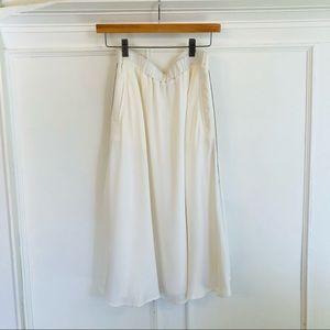 twinset milano • white midi skirt side stripe